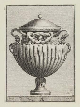 Etching Petitot - Suite des vases tirée du cabinet de Monsieur...