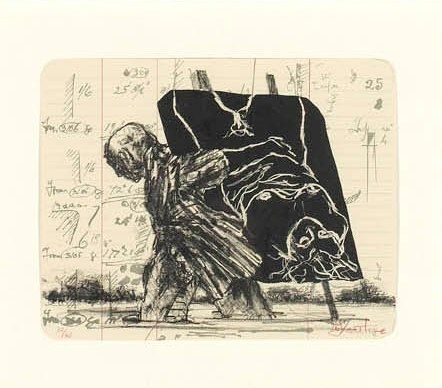 Lithograph Kentridge - Summer Graffiti Series (Archived Editions)