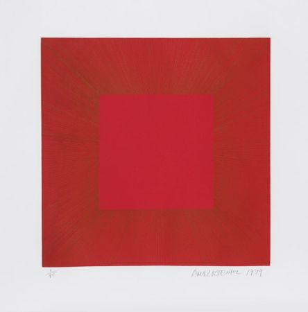 Aquatint Anuszkiewicz - Summer Suite (Red with Gold I)