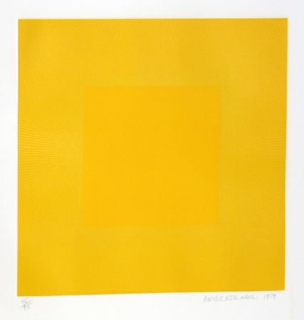 Etching And Aquatint Anuszkiewicz - Summer Suite (Yellow with Yellow)