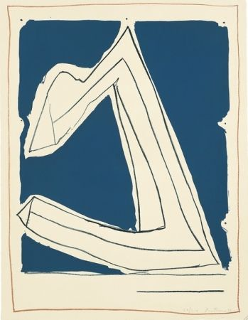 Lithograph Motherwell - Summertime in Italy (with Lines)