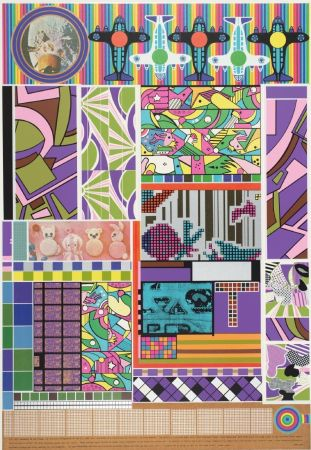 Screenprint Paolozzi - Sun City