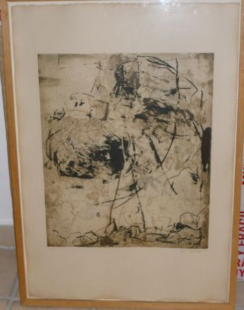Etching And Aquatint Mitchell - SUNFLOWERS 6