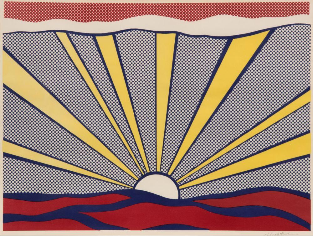 Lithograph Lichtenstein - Sunrise