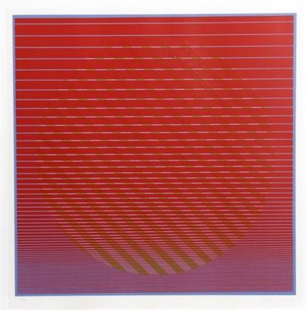 Screenprint Stanczak - Sunset from Eight Variants