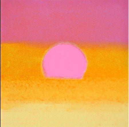 Screenprint Warhol - Sunset(Unique)(Pink/yellow)