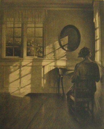 Mezzotint Ilsted - Sunshine - monochrome