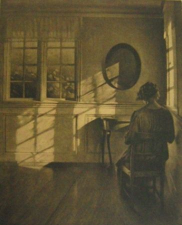 Mezzotint Ilsted - Sunshine - Monochrome