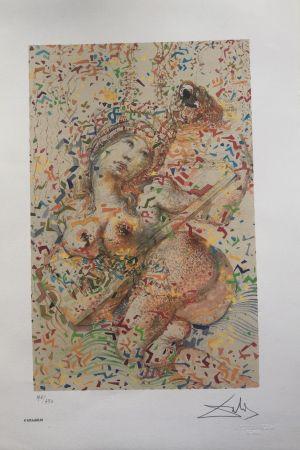 Lithograph Dali - Suonatrice di Mandolino INTERGRAFICA 38X56