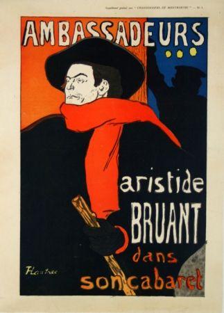 Poster Toulouse-Lautrec - Supplément  Chansonniers de Montmartre  Aristide Bruant