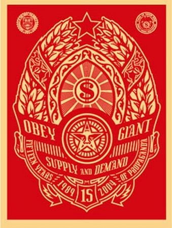 Screenprint Fairey - Supply and Demand (Red)
