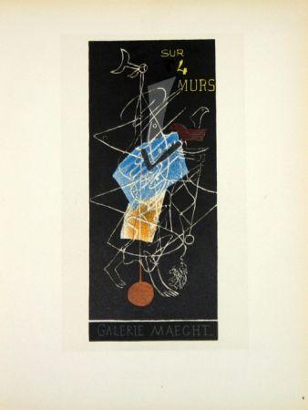 Lithograph Braque - Sur 4 Murs