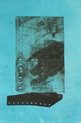 Engraving Clavé - SUR FOND BROU