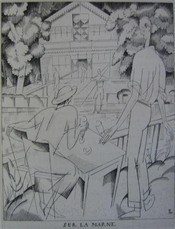 Engraving Laboureur - Sur la Marne
