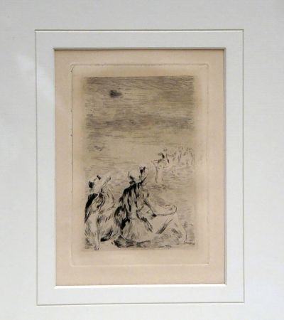 Etching Renoir - Sur la Plage a Berneval