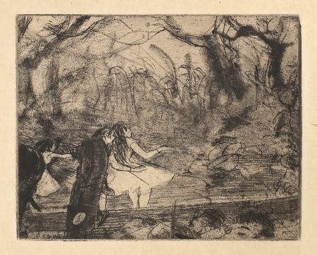 Etching And Aquatint Degas - Sur La Scène 3