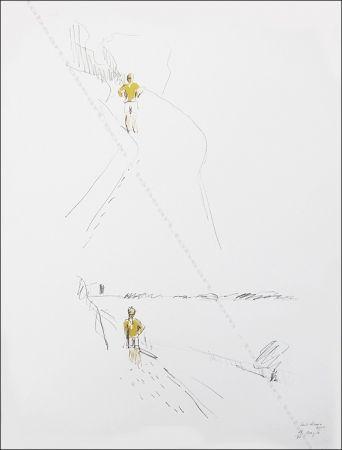 Lithograph Buraglio - Sur le chemin.