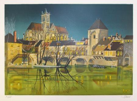 Lithograph Lecoindre - Sur les bords du fleuve