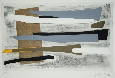 Etching And Aquatint Richter - Sur une jambe