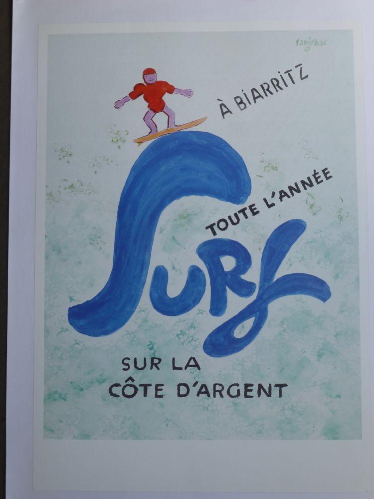 Poster Savignac - Surf à Biarritz toute l'année sur la côte d'argent