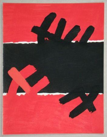 Pochoir Capogrossi - Surface rouge et noire