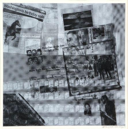 Screenprint Rauschenberg - Surface series
