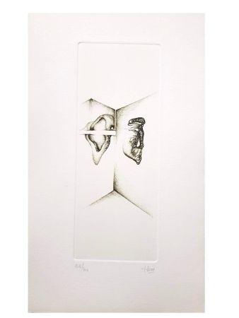 Lithograph Deux - Surréalisme Gris I