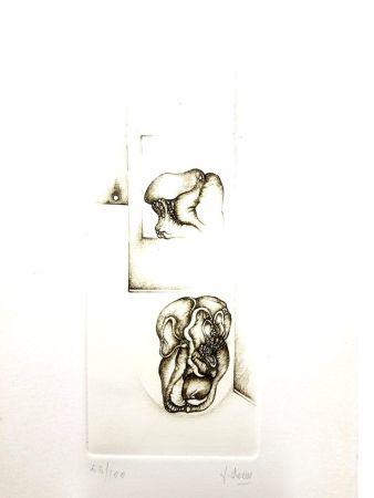 Lithograph Deux - Surréalisme Gris II