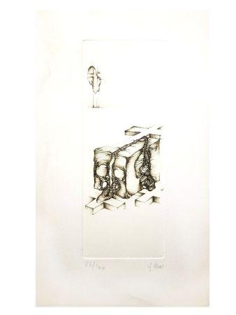 Lithograph Deux - Surréalisme Gris IV