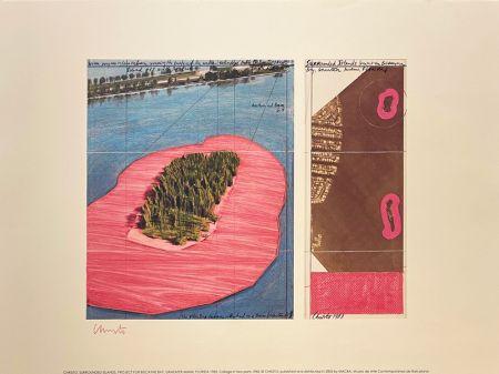 Lithograph Christo - Surronded islands, Miami