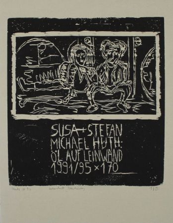 Woodcut Huth - Susa + Stefan