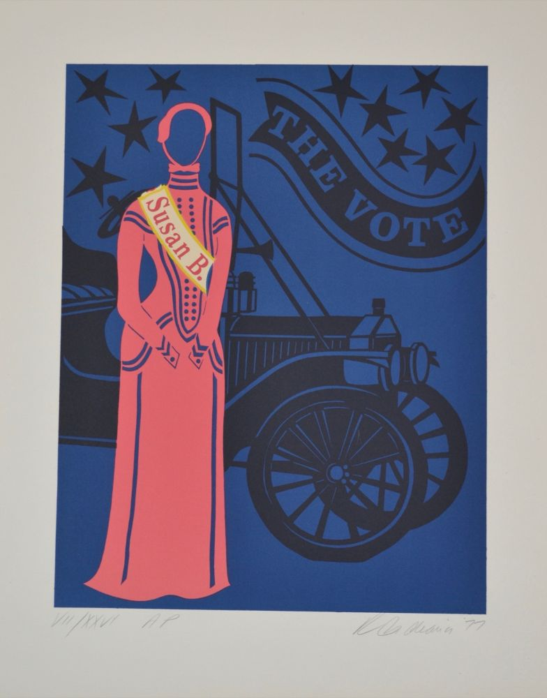 Lithograph Indiana - Susan B. Anthony - Mother of us all portfolio