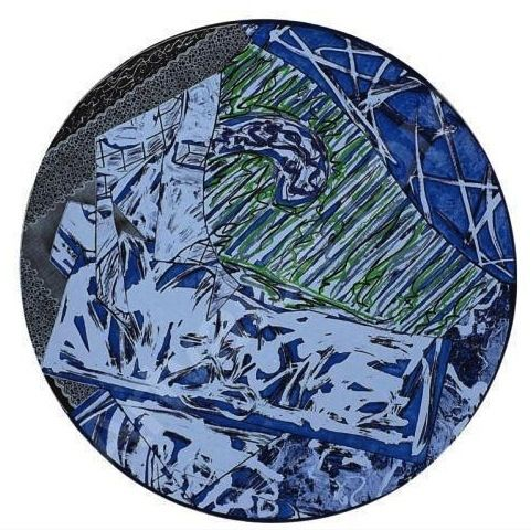 Etching Stella - Swan Engraving Circle l, State lll