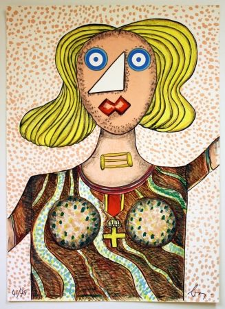 Lithograph Baj - Swedish Lady