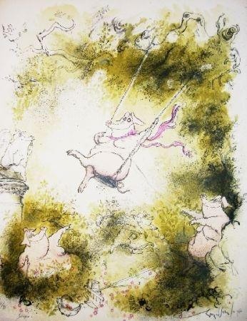 Lithograph Searle - Swinger