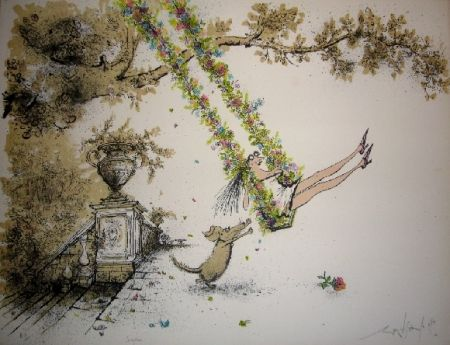 Lithograph Searle - Swingtime