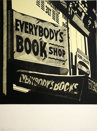 Lithograph Cottingham - Switzerland Everybody´s bookshop