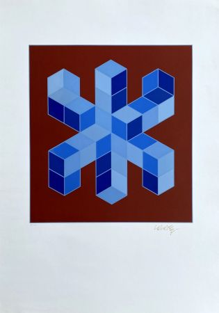 Screenprint Vasarely - Sylla-6