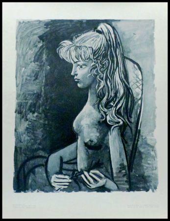 Lithograph Picasso (After) - SYLVETTE AU FAUTEUIL