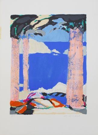 Lithograph Godard - Symphonie en bleu IV