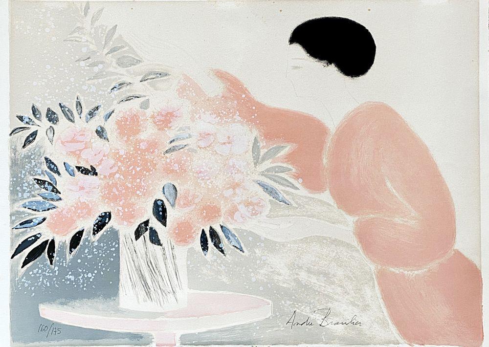 Lithograph Brasilier - Symphonie en Rose