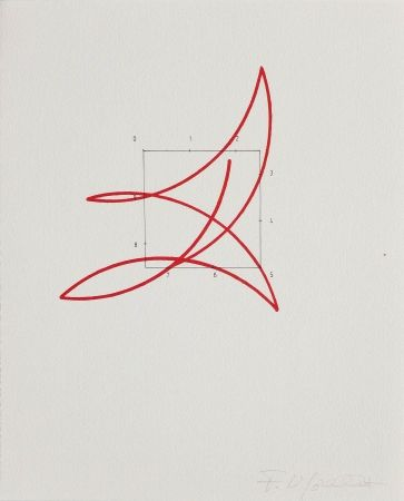 Lithograph Morellet - SYSTEMES, HASARD ET TELEPHONE