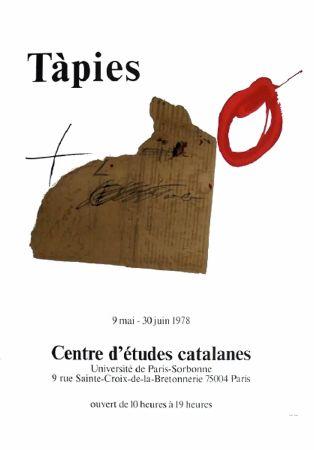 Poster Tàpies - TÀPIES 78. Affiche pour une exposition à La Sorbonne, Paris.