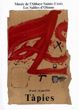 Poster Tàpies - TÀPIES 78. Affiche pour une exposition à l'Abbaye de Sainte Croix.