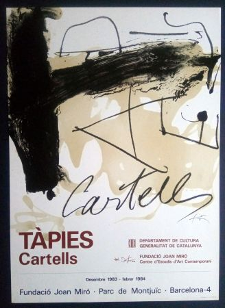 Poster Tàpies - TÀPIES CARTELLS - FUNDACIÓ MIRÓ 1983
