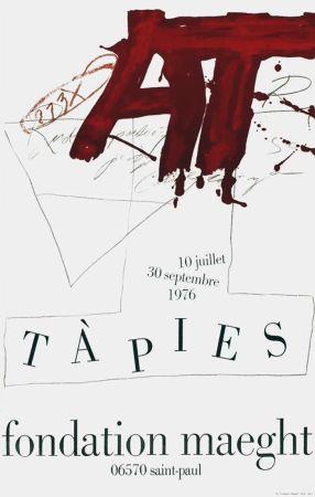 Poster Tàpies - TÀPIES Expo 76 - Fondation Maeght