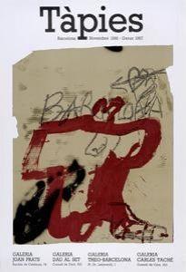 Poster Tàpies - Tàpies. Barcelona Novembre 1986 - Gener 1987