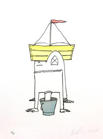 Lithograph Nørgard - Tête dans le sceau