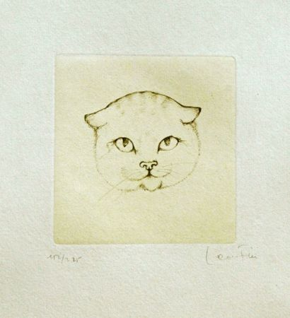 Etching Fini - Tête de chat