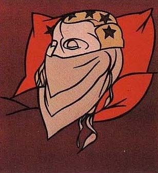 Lithograph Adami - Tête de femme